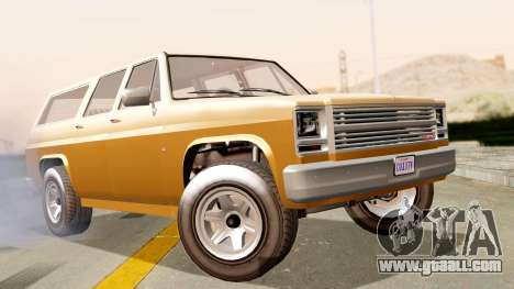 GTA 5 Declasse Rancher XL for GTA San Andreas