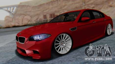 BMW M5 2012 Stance Edition for GTA San Andreas right view