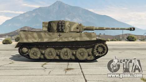 GTA 5 Panzerkampfwagen VI Ausf. E Tiger left side view