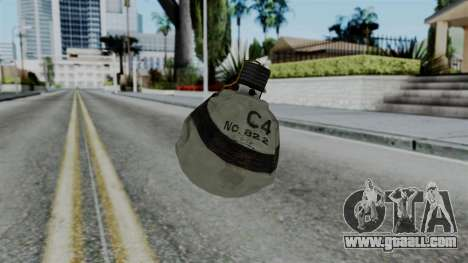 CoD Black Ops 2 - Semtex for GTA San Andreas second screenshot