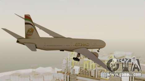 Boeing 777-9x Etihad Airways for GTA San Andreas right view