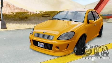 GTA 5 Declasse Premier Coupe for GTA San Andreas back left view