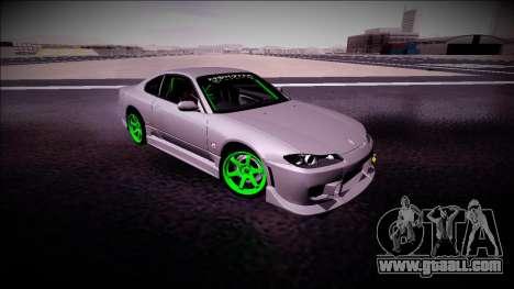 Nissan Silvia S15 Drift Monster Energy for GTA San Andreas back view