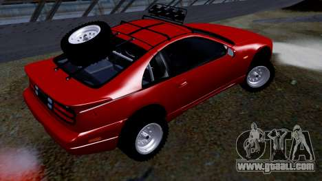 Nissan 300ZX Rusty Rebel for GTA San Andreas left view