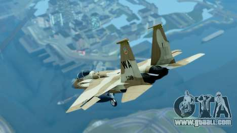 McDonnell Douglas F-15E Aggressor Desert for GTA San Andreas back left view