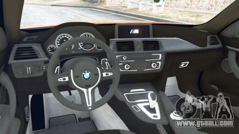 GTA 5 BMW M4 (F82) [LibertyWalk] v1.1 rear right side view