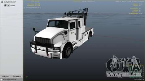 GTA 5 Police Towtruck right side view