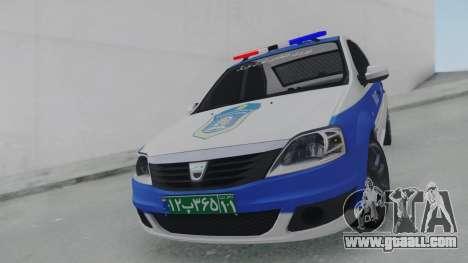 Dacia Logan Iranian Police for GTA San Andreas right view