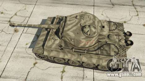 GTA 5 Panzerkampfwagen VI Ausf. E Tiger back view