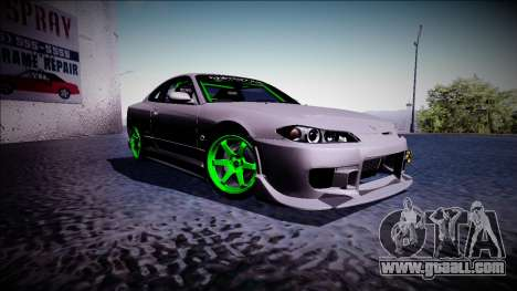 Nissan Silvia S15 Drift Monster Energy for GTA San Andreas right view