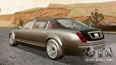 GTA 5 Enus Cognoscenti L IVF for GTA San Andreas back left view
