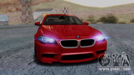 BMW M5 2012 Stance Edition for GTA San Andreas upper view