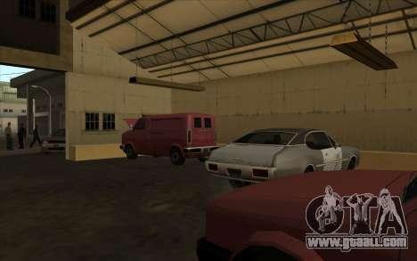 The garage at the docks for GTA San Andreas second screenshot