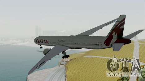 Boeing 777-9x Qatar Airways for GTA San Andreas right view