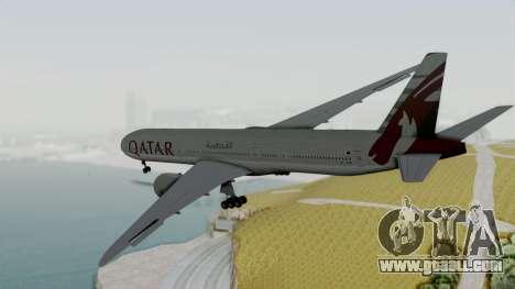 Boeing 777-9x Qatar Airways for GTA San Andreas right view