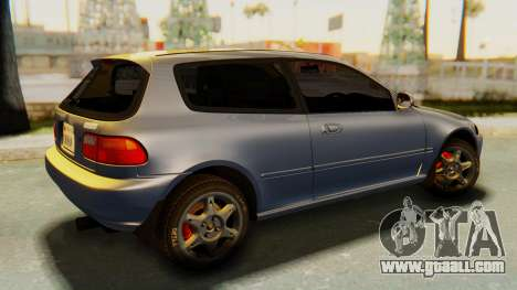 Honda Civic Vti 1994 V1.0 IVF for GTA San Andreas left view