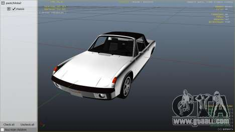 GTA 5 1970 Porsche 914 right side view