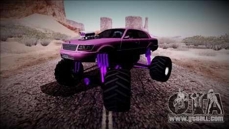 GTA 4 Washington Monster Truck for GTA San Andreas inner view