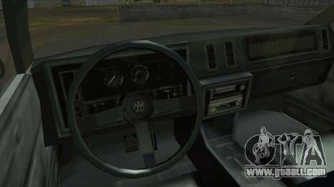 Willard Majestic for GTA San Andreas inner view
