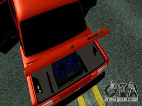 VAZ 2107 Rang Rover Edition for GTA San Andreas back view