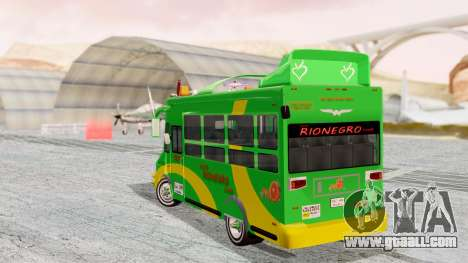 Iveco Turbo Daily Buseton v2 Flota Rionegro for GTA San Andreas left view