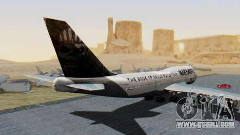 Boeing 747-428 Ed Force One for GTA San Andreas left view