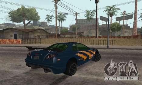 Nissan Skyline R34 Sunray (FlatOut 2) for GTA San Andreas left view