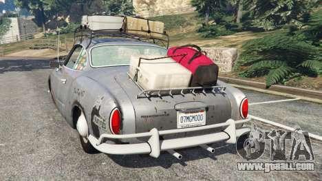 GTA 5 Volkswagen Karmann-Ghia Typ 14 1967 rear left side view