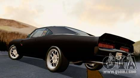 Dodge Charger from FnF4 for GTA San Andreas left view