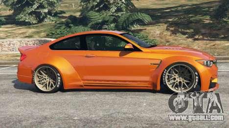 GTA 5 BMW M4 (F82) [LibertyWalk] v1.1 left side view