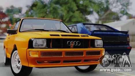 Audi Quattro Coupe 1983 for GTA San Andreas bottom view