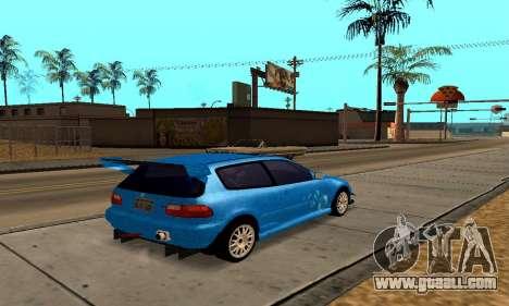 Honda Civic EG6 Tunable for GTA San Andreas inner view