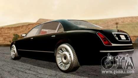 GTA 5 Enus Cognoscenti L for GTA San Andreas back left view