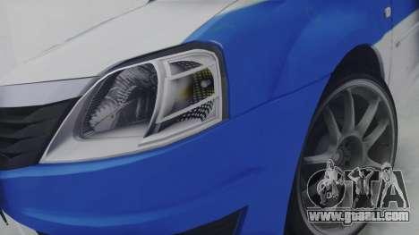 Dacia Logan Iranian Police for GTA San Andreas back view