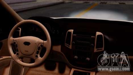 Hyundai Santa Fe for GTA San Andreas back view