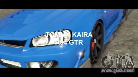 Nissan Skyline R34 Tommy Kaira for GTA 5