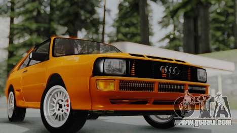 Audi Quattro Coupe 1983 for GTA San Andreas right view