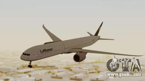 Boeing 777-9x Deutsche Lufthansa for GTA San Andreas back left view