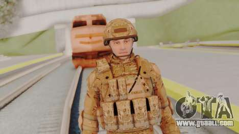 US Army Multicam Soldier from Alpha Protocol for GTA San Andreas