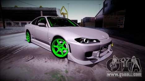 Nissan Silvia S15 Drift Monster Energy for GTA San Andreas left view