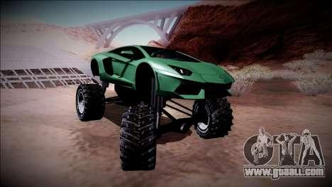 Lamborghini Aventador Monster Truck for GTA San Andreas side view