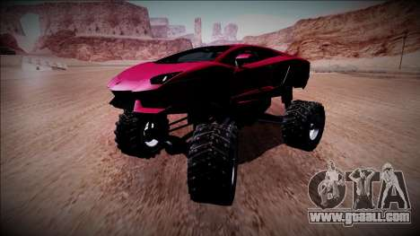Lamborghini Aventador Monster Truck for GTA San Andreas inner view