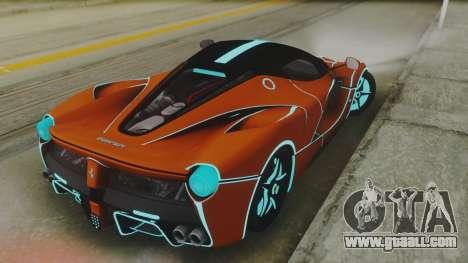 Ferrari LaFerrari TRON Edition v1.0 for GTA San Andreas back left view