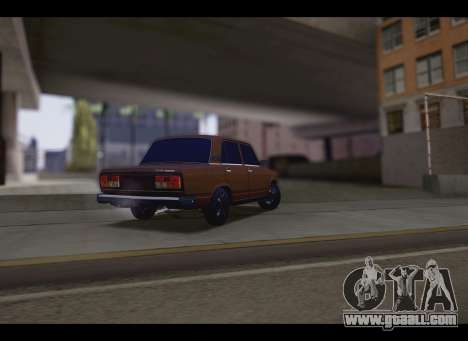 VAZ 2107 Oper for GTA San Andreas back left view