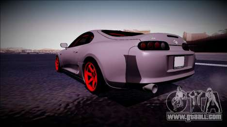 Toyota Supra Drift Monster Energy for GTA San Andreas back left view
