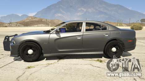 GTA 5 2012 Unmarked Dodge Charger left side view