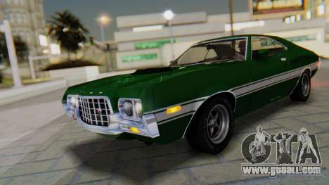 Ford Gran Torino Sport SportsRoof (63R) 1972 IVF for GTA San Andreas upper view