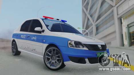 Dacia Logan Iranian Police for GTA San Andreas