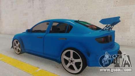 Mazda 3 Full Tuning for GTA San Andreas back left view