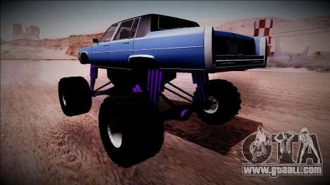 GTA 4 Emperor Monster Truck for GTA San Andreas left view